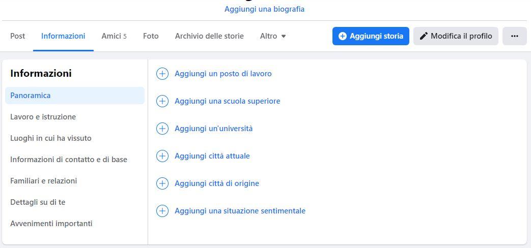 Facebook e le liste di contatti predefinte